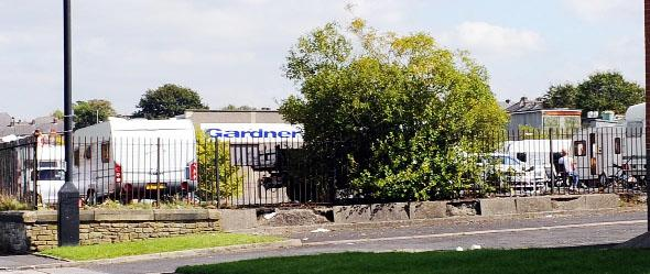 The Travellers' site at the former Gardners car park, now council-owned