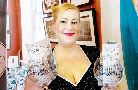Marie Harris is all set for the gin festival at Nelson's ACE Centre