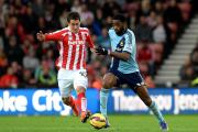 Stoke City's Bojan Krkic (left)