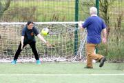 WALKING FOOTBALL: Teams come together in charity tournament